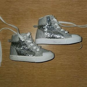 Gymboree silver Glitter baby hightop